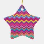 Modelo de zigzag colorido de la onda ornamentos para reyes magos