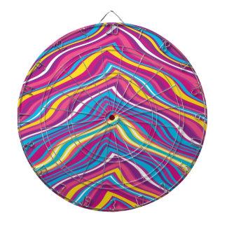 Modelo de zigzag colorido de la onda tabla dardos