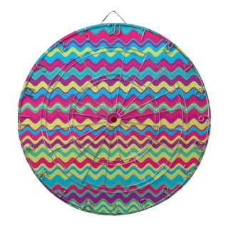 Modelo de zigzag colorido de la onda tablero de dardos