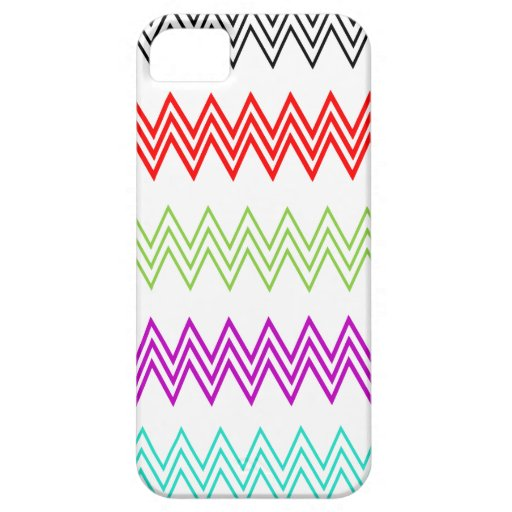 Modelo de zigzag colorido funda para iPhone 5 barely there