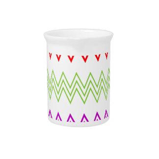 Modelo de zigzag colorido jarrón