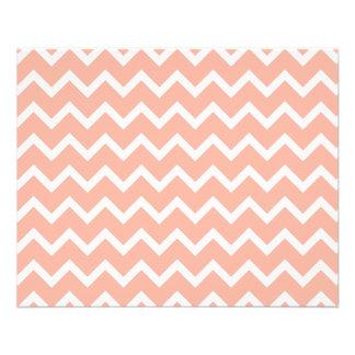 """Modelo de zigzag coralino y blanco folleto 4.5"""" x 5.6"""""""