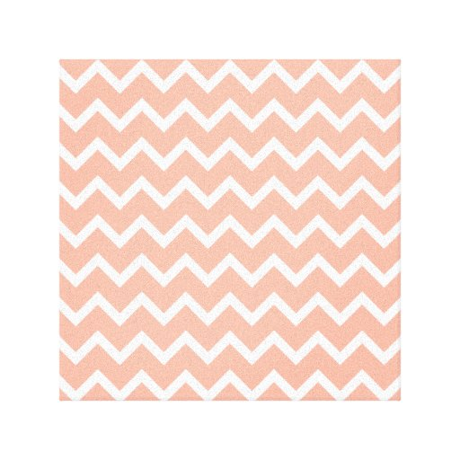 Modelo de zigzag coralino y blanco impresion en lona