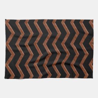 Modelo de zigzag de bronce metálico toallas