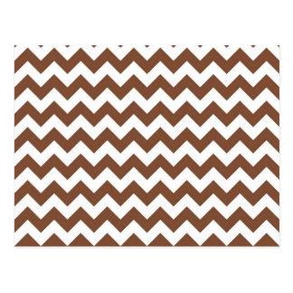 Modelo de zigzag de Brown Chevron Postal