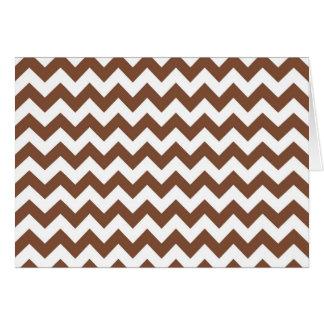 Modelo de zigzag de Brown Chevron Tarjeta Pequeña