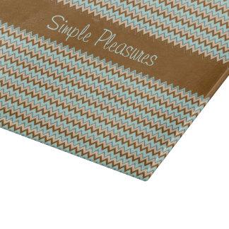 Modelo de zigzag de Brown de la turquesa Tablas De Cortar