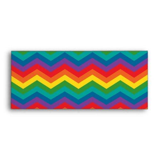 Modelo de zigzag de Chevron del arco iris Sobres