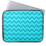Modelo de zigzag de la turquesa y del trullo mangas portátiles