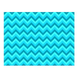 Modelo de zigzag de la turquesa y del trullo postales