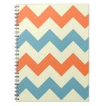 Modelo de zigzag de muy buen gusto del zigzag azul libro de apuntes