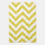 modelo de zigzag de oro de los galones toallas