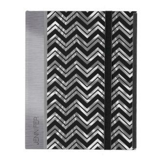 Modelo de zigzag de plata y negro de Chevron