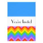 Modelo de zigzag del arco iris. Azul llano de la p