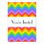Modelo de zigzag del arco iris invitación 12,7 x 17,8 cm