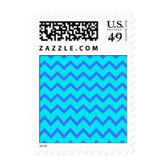 Modelo de zigzag del azul y del trullo franqueo