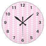Modelo de zigzag del rosa en colores pastel inspir relojes de pared