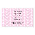 Modelo de zigzag del rosa en colores pastel tarjetas de visita