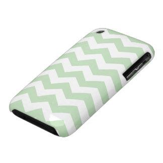 Modelo de zigzag del verde del helado de la menta iPhone 3 Case-Mate protector