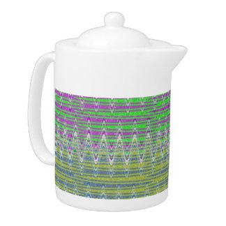 Modelo de zigzag en colores pastel colorido