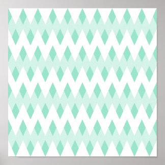 Modelo de zigzag en colores pastel del trullo con  póster