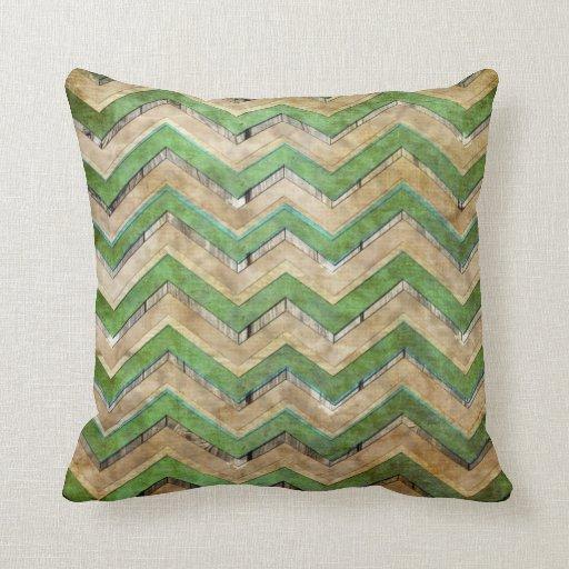 Modelo de zigzag fresco impresionante del galón almohadas