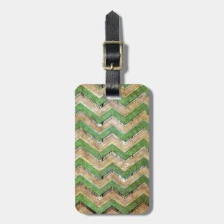 Modelo de zigzag fresco impresionante del galón etiqueta de equipaje