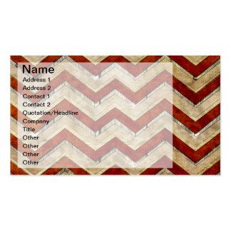 Modelo de zigzag fresco impresionante del galón tarjetas personales