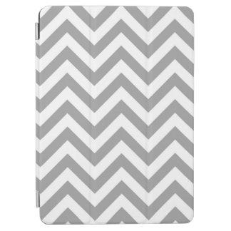 Modelo de zigzag grande blanco gris oscuro de cubierta de iPad air