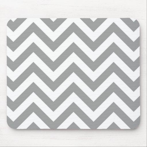 Modelo de zigzag grande blanco gris oscuro de tapetes de raton