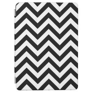 Modelo de zigzag grande blanco y negro de Chevron Cubierta De iPad Air