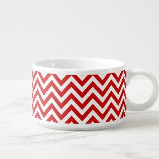 Modelo de zigzag grande rojo y blanco de Chevron Tazón