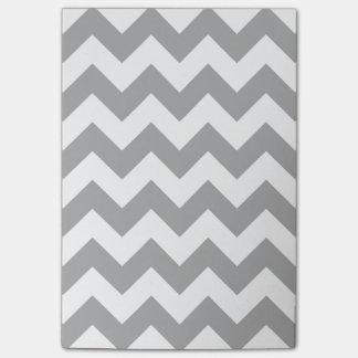 Modelo de zigzag gris adaptable post-it nota