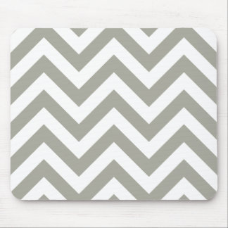 Modelo de zigzag gris de los galones mousepad