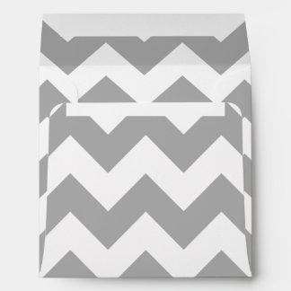 Modelo de zigzag gris sobres