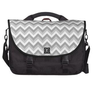 Modelo de zigzag gris y blanco bolsas para portatil