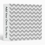 """Modelo de zigzag gris y blanco carpeta 1 1/2"""""""