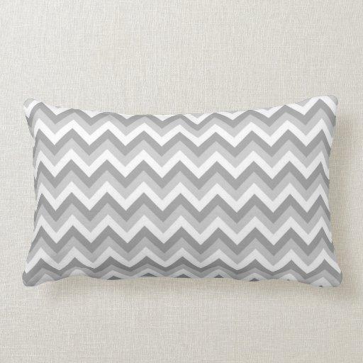Modelo de zigzag gris y blanco cojines