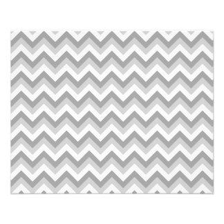"""Modelo de zigzag gris y blanco folleto 4.5"""" x 5.6"""""""
