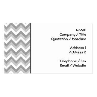 Modelo de zigzag gris y blanco tarjetas de visita