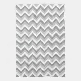 Modelo de zigzag gris y blanco toalla