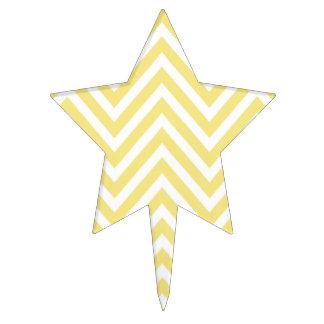 Modelo de zigzag, modelo de Chevron - amarillo Decoraciones De Tartas