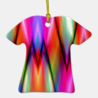 Modelo de zigzag multicolor ornamento para arbol de navidad