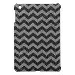 Modelo de zigzag negro de Chevron del brillo iPad Mini Carcasa