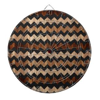 Modelo de zigzag negro del cuero y de madera tablero de dardos