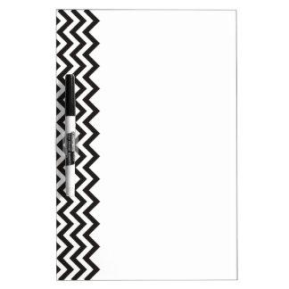 Modelo de ZIGZAG - negro + su fondo y ideas Tablero Blanco