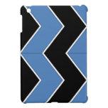 Modelo de zigzag negro y azul