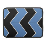 Modelo de zigzag negro y azul fundas macbook pro