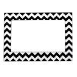 Modelo de zigzag negro y blanco intrépido de Chevr Marcos Magneticos Para Fotos