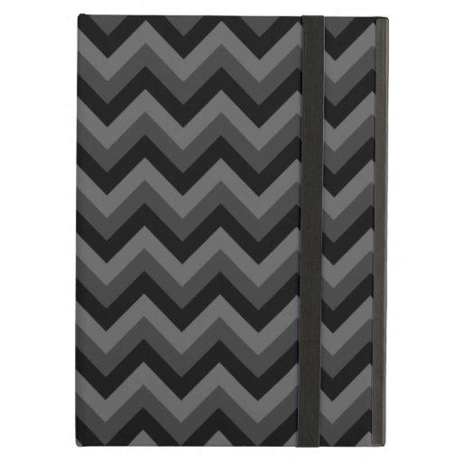 Modelo de zigzag negro y gris